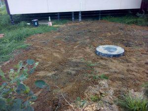 Обустройство скважины на воду с использованием скважинного кессона вид сверху